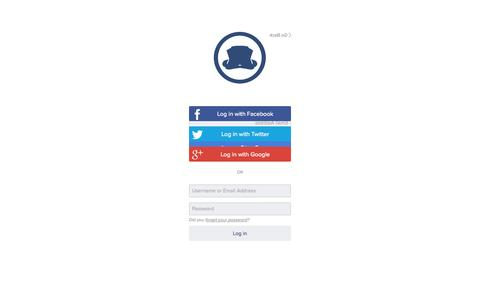 Screenshot of Login Page tapiture.com - Tapiture Login - captured Sept. 17, 2014