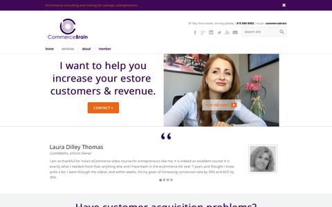 Screenshot of Services Page commercebrain.com - eCommerce Consulting | CommerceBrain.com | CommerceBrain eCommerce Marketing Services - captured Dec. 10, 2015