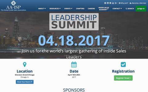 AA-ISP | Leadership Summit 2017