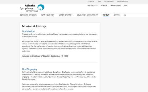 Mission & History | Atlanta Symphony Orchestra