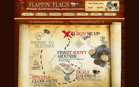 Screenshot of Signup Page flappinflags.com - Wholesale Signup : Flappin' Flags - captured Sept. 30, 2014