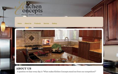 Screenshot of About Page kitchen-concepts.net - About Us | Kitchen Concepts - captured Sept. 30, 2014