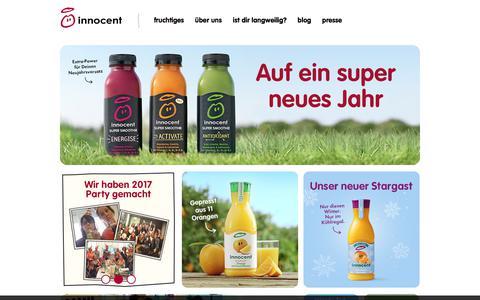 Screenshot of Home Page innocentsmoothies.ch - innocent – Obst zum Trinken - captured Jan. 14, 2018