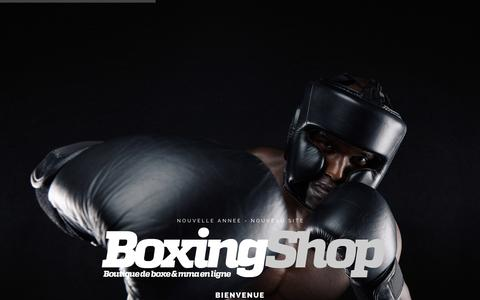 Screenshot of Home Page boxing-shop.com - mma - boxe thai - boxe anglaise - punching ball - boxingshop - captured Dec. 3, 2016