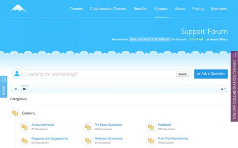 Screenshot of Support Page icetheme.com - Support Forums | IceTheme - captured June 7, 2017