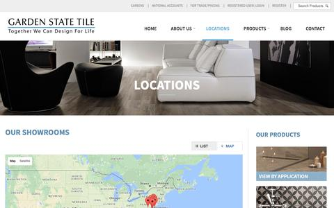 Screenshot of Locations Page gstile.com - Locations | Garden State Tile - captured Oct. 25, 2016