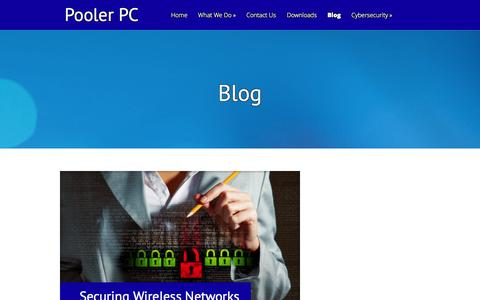 Screenshot of Blog poolerpc.com - Blog Archives - Pooler PC | Pooler PC - captured Sept. 30, 2014