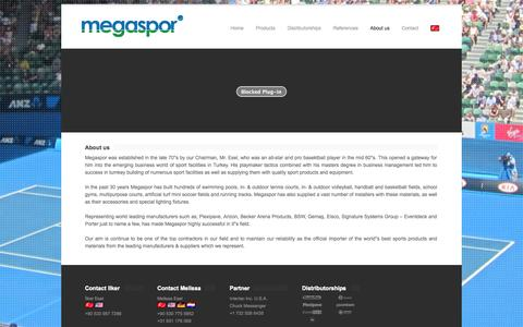 Screenshot of About Page megaspor.com - Megaspor - About us - captured Oct. 27, 2014
