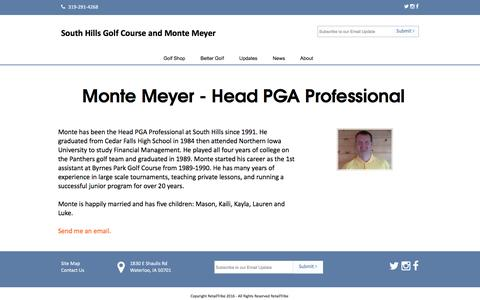 Screenshot of About Page golfsouthhills.com - Staff - captured June 24, 2016