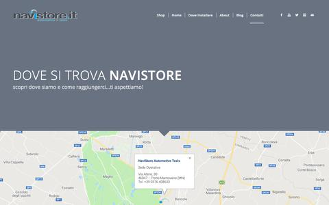 Screenshot of Contact Page navistore.it - Contatti - NaviStore - captured Nov. 15, 2018