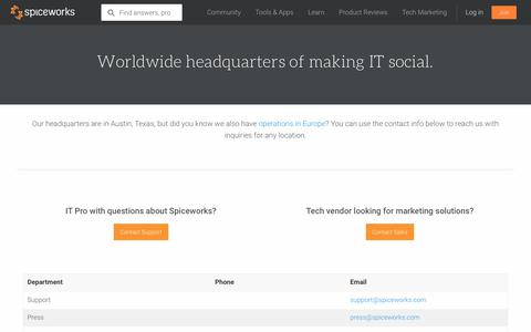 Spiceworks Contact