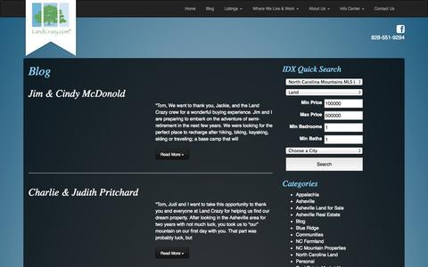 Screenshot of Testimonials Page landcrazy.com - Testimonials Archive - Land Crazy - captured Oct. 1, 2014