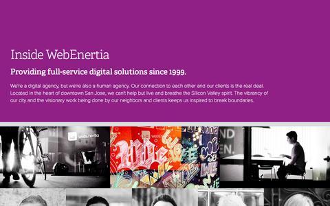 Screenshot of Jobs Page webenertia.com - WebEnertia   Inside WebEnertia - captured Aug. 14, 2015