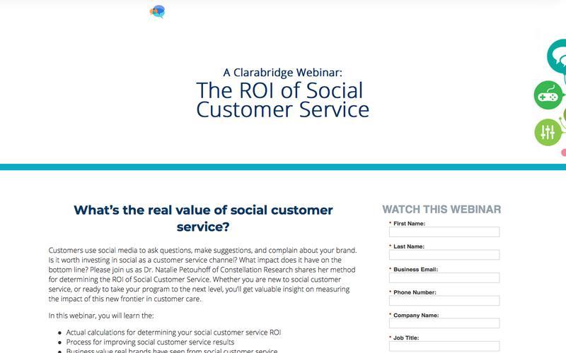 Webinar: The ROI of Social Customer Service