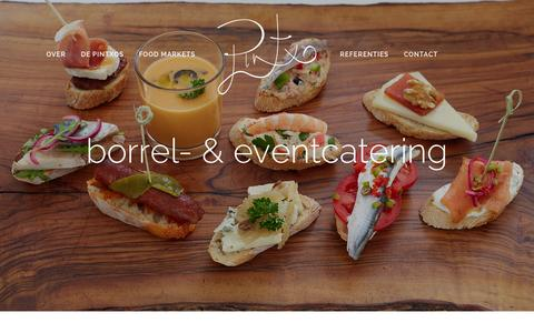 Screenshot of Home Page pintxo.nl - Pintxo - captured June 17, 2015