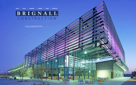 Screenshot of Home Page brignall.com - Construction Company Arizona | Brignall Construction - captured Oct. 5, 2014