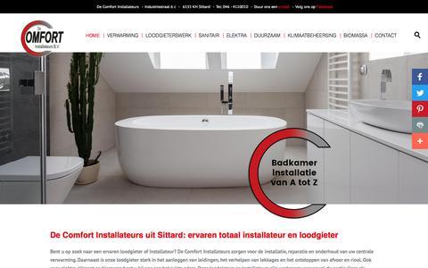 Screenshot of Home Page decomfortinstallateurs.nl - De Comfort Installateurs uit Sittard: uw loodgieter en installateur - captured Nov. 23, 2016