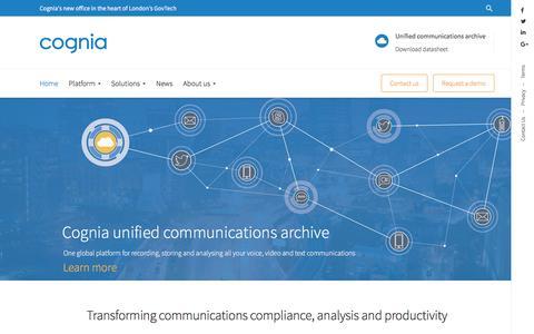 Screenshot of Home Page cognia.com - Home - Cognia - captured Aug. 13, 2016