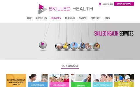 Screenshot of Services Page skilledhealth.com.au - Our  Services - Skilled Health - captured Nov. 14, 2017