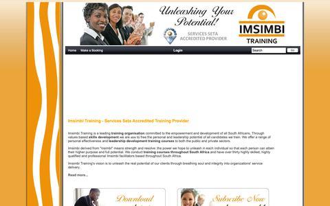Screenshot of Home Page konicaminoltadirect.biz - Imsimbi Training - Seta Accredited Training | Management Training | Corporate Training - captured Nov. 6, 2018