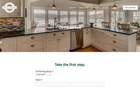 Screenshot of Contact Page barnescustom.com - Get Started — Barnes Custom Builders - captured Oct. 10, 2017