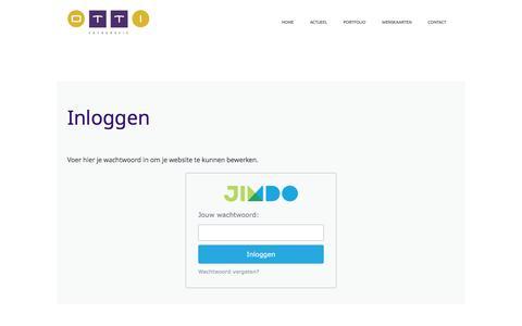 Screenshot of Login Page otti.nl - Inloggen - De website van OTTI fotografie! - captured Feb. 26, 2016