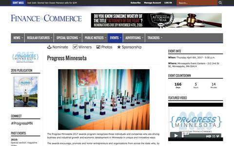 Progress Minnesota – Finance & Commerce