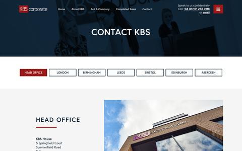 Screenshot of Contact Page kbscorporate.com - Contact KBS - KBS - captured Feb. 5, 2020