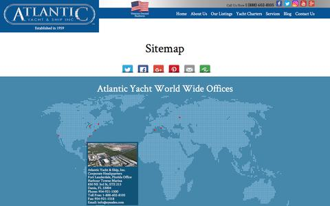 Screenshot of Site Map Page atlanticyachtandship.com - Sitemap  : Atlantic Yacht & Ship, Inc. - captured July 5, 2017