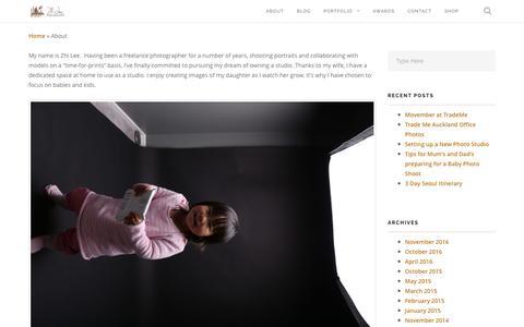 Screenshot of About Page zhi-lee.com - About Creative Portrait and Wedding Photographer Zhi Lee - captured Dec. 3, 2016
