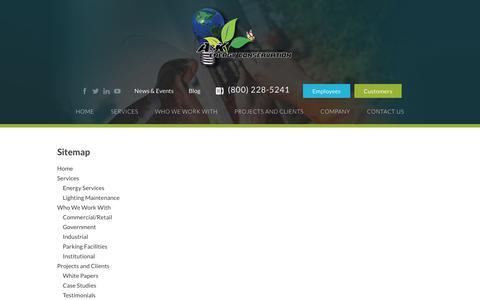 Screenshot of Site Map Page akenergy.com - Sitemap - AK Energy - captured Sept. 17, 2017