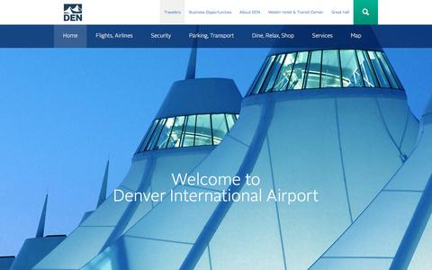 Screenshot of Home Page flydenver.com - Welcome to Denver International Airport | Denver International Airport - captured June 29, 2017