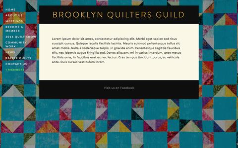 """Screenshot of Login Page quiltbrooklyn.org - <span class=""""SentrySquareMenu"""">Log In</span> — Brooklyn Quilters Guild - captured March 10, 2016"""