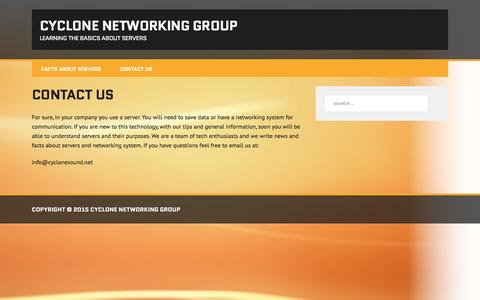 Screenshot of Contact Page cyclonesound.net - Contact Us | Cyclone Networking Group - captured Dec. 14, 2015