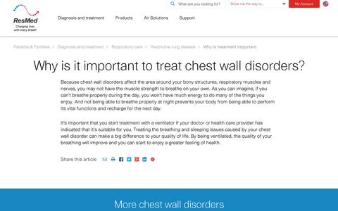 Why is treatment important for Chest wall disorders| Solutions by ResMed