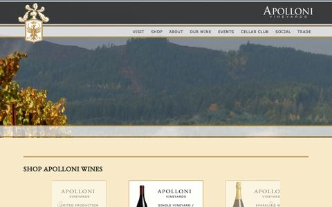Screenshot of Home Page apolloni.com - Apolloni Vineyards – Producer of Premium Oregon Pinot Noir and Italian-style Wines - captured Oct. 12, 2015