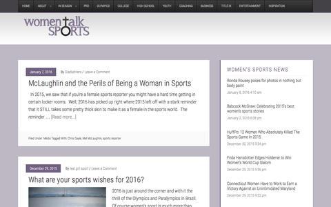 Screenshot of Press Page womentalksports.com - Media � Women Talk Sports - captured Jan. 11, 2016