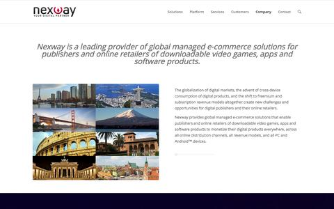 Screenshot of About Page nexway.com - Nexway Corporate | About Nexway - captured Sept. 16, 2014