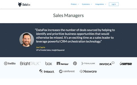DataFox for Sales Managers