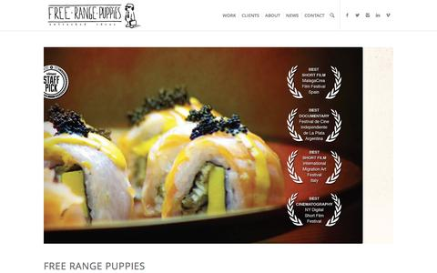 Screenshot of Home Page free-rangepuppies.com - Free Range Puppies | A multicultural ad agency & production house - captured Aug. 4, 2016