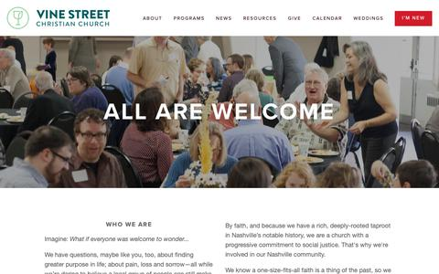 Screenshot of FAQ Page Maps & Directions Page vinestreet.org - I'm New — Vine Street Christian Church - captured Oct. 30, 2018