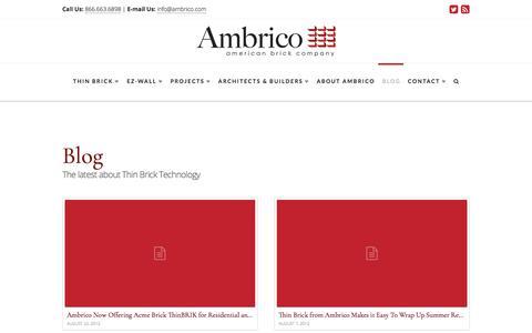 Screenshot of Blog ambrico.com - Blog - - captured Oct. 8, 2017