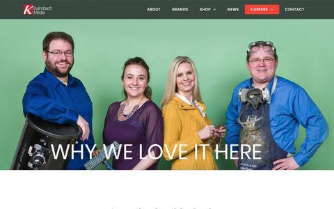 Screenshot of Jobs Page kalmbach.com - Careers – Kalmbach Media - captured Sept. 22, 2018