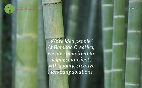 Screenshot of Home Page bamboocreativeinc.com - Bamboo Creative Inc. | Social Media + Editorial + Graphic Design + Marketing - captured May 31, 2017