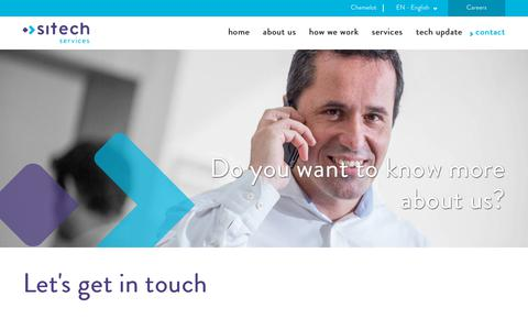 Screenshot of Contact Page sitech.nl - Contact | Sitech Services B.V. - captured Oct. 18, 2018