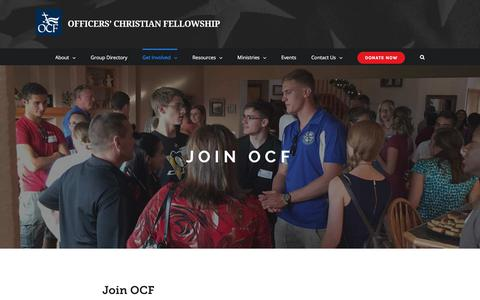 Screenshot of Signup Page ocfusa.org - Join – Officers' Christian Fellowship - captured Oct. 19, 2017