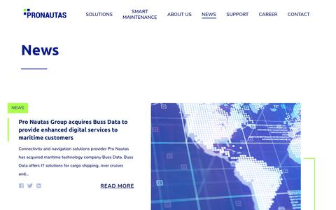 Screenshot of Press Page pro-nautas.com - News – PRONAUTAS - captured Dec. 8, 2018