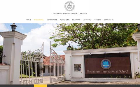 Screenshot of Team Page trins.org - Trivandrum International School Management | George M Thomas | Sapnu George - captured June 29, 2018