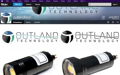 Screenshot of Flickr Page flickr.com - Flickr: outlandtech's Photostream - captured Oct. 26, 2014