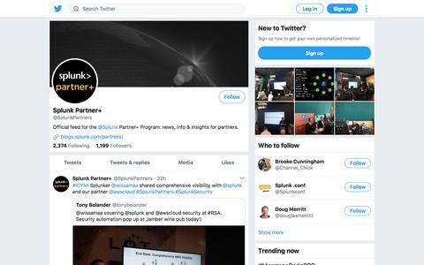 Tweets by Splunk Partner+ (@SplunkPartners) – Twitter
